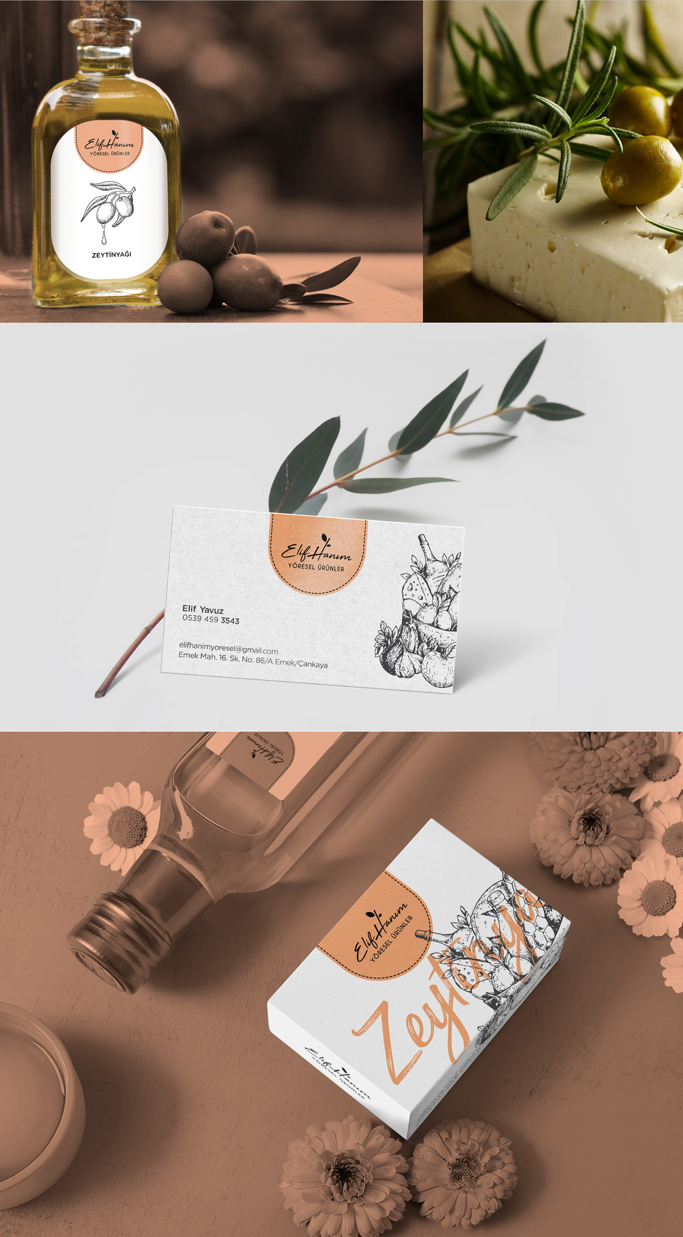 logo organic Food  brand Label jam olive oil market shop