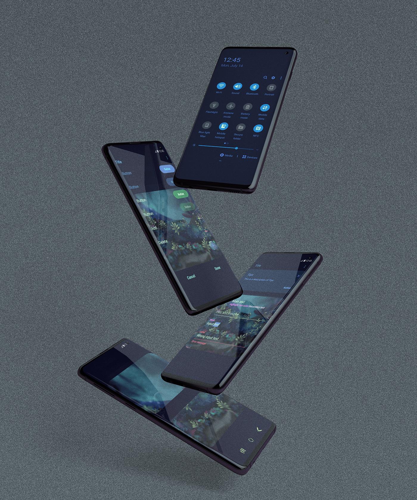 graphic design  ILLUSTRATION  phone theme ui design