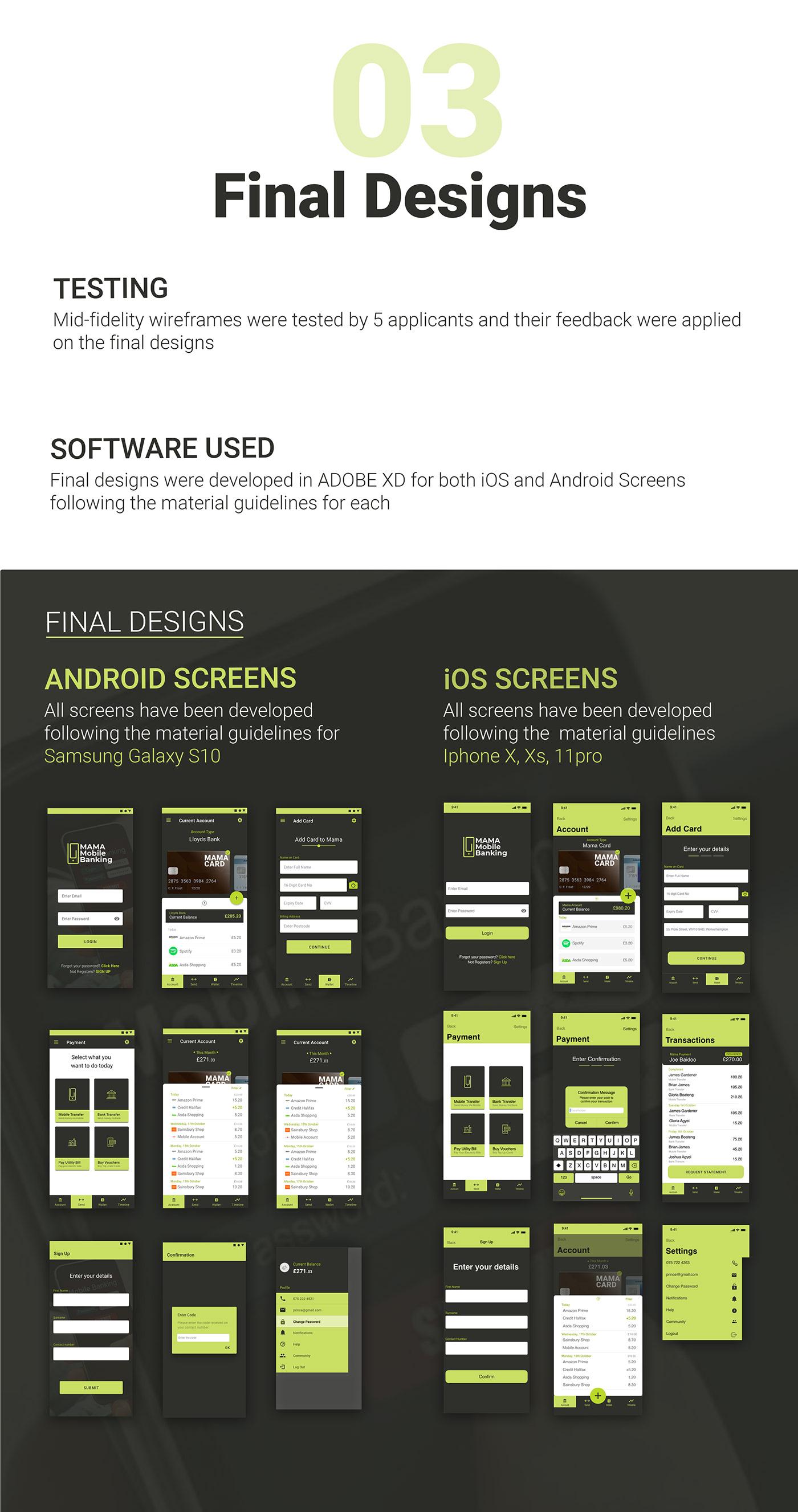 Adobe XD banking finance Fintech Fintech Banking Fintech Mobile mobile banking product design  ui design