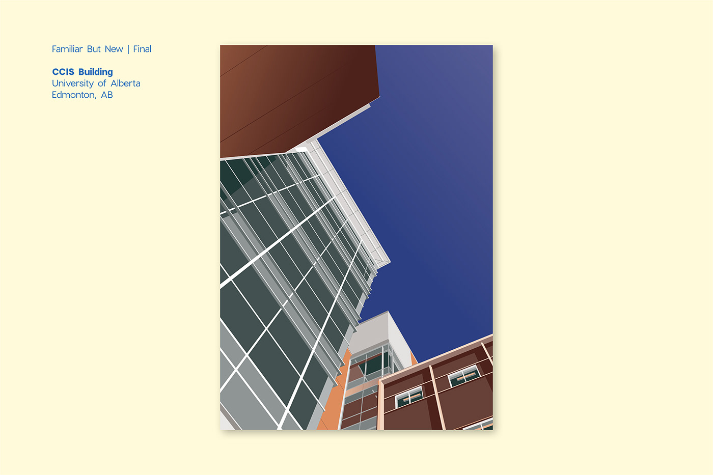 postcard UofA alberta ILLUSTRATION  campus student postcard design vcd colour