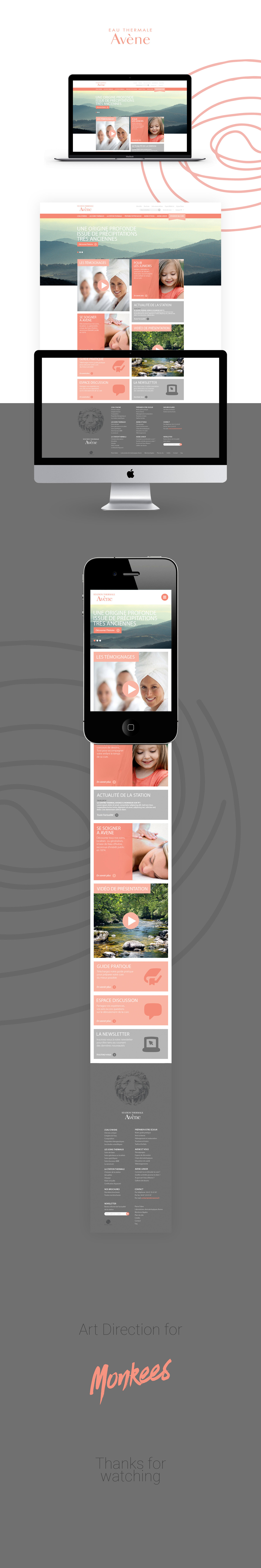 ArtDirection avene design directionartistique graphic HTML pierrefabre Web Webdesign