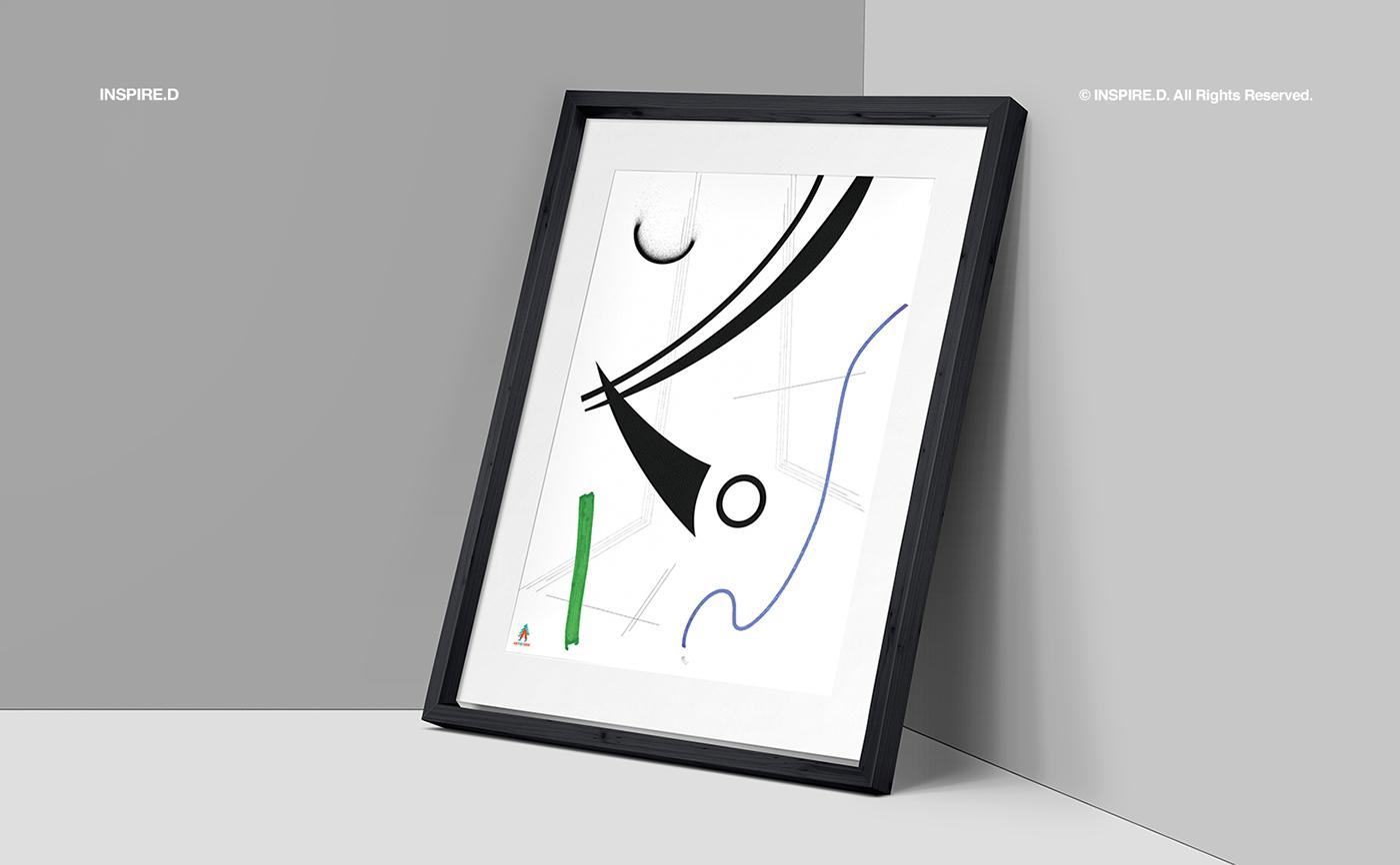 Adobe Portfolio arko wassily kandinsky kandinsky rhythm step donation support poster Stand culture Art Branding point line plane inspired