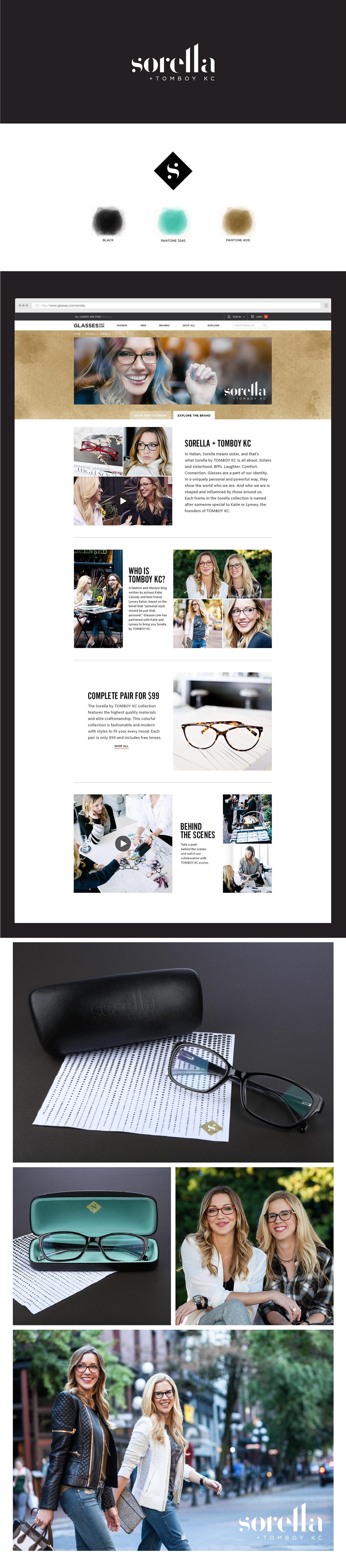 Web design Sorella tomboy kc glasses