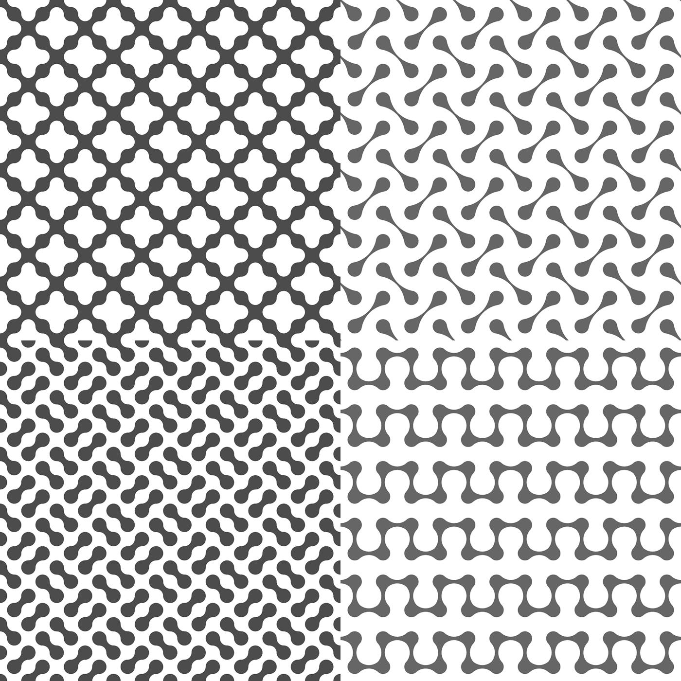 Drops Patterns Simple Design Inspiration