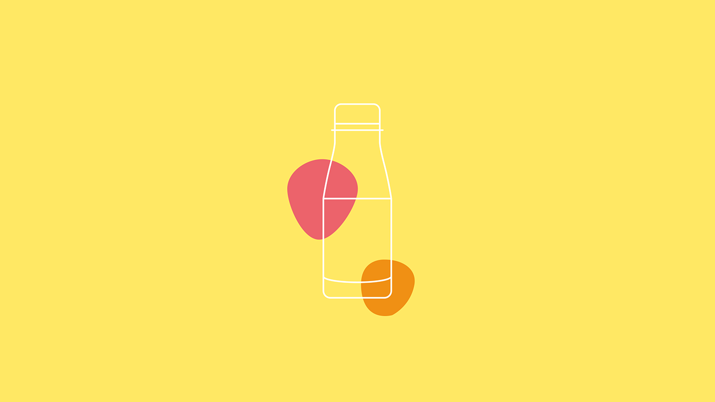 banana bottle design enjoy Fruit smoothie