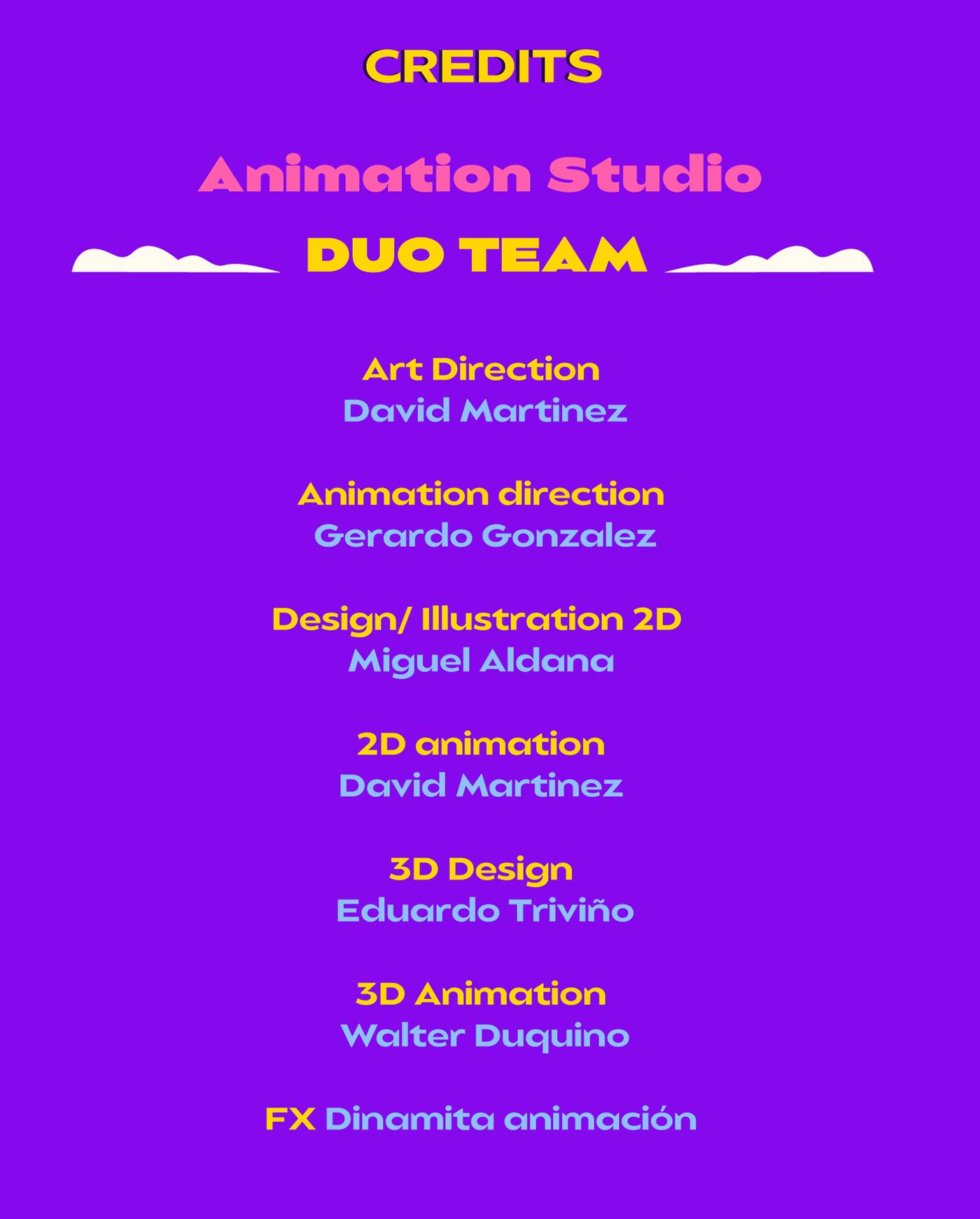 2D 3D animation  duo graphics motion studio team