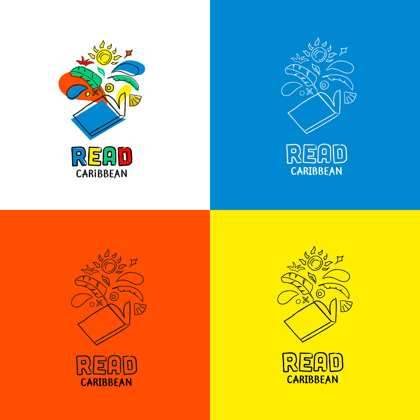 Logo variations for Read Caribbean