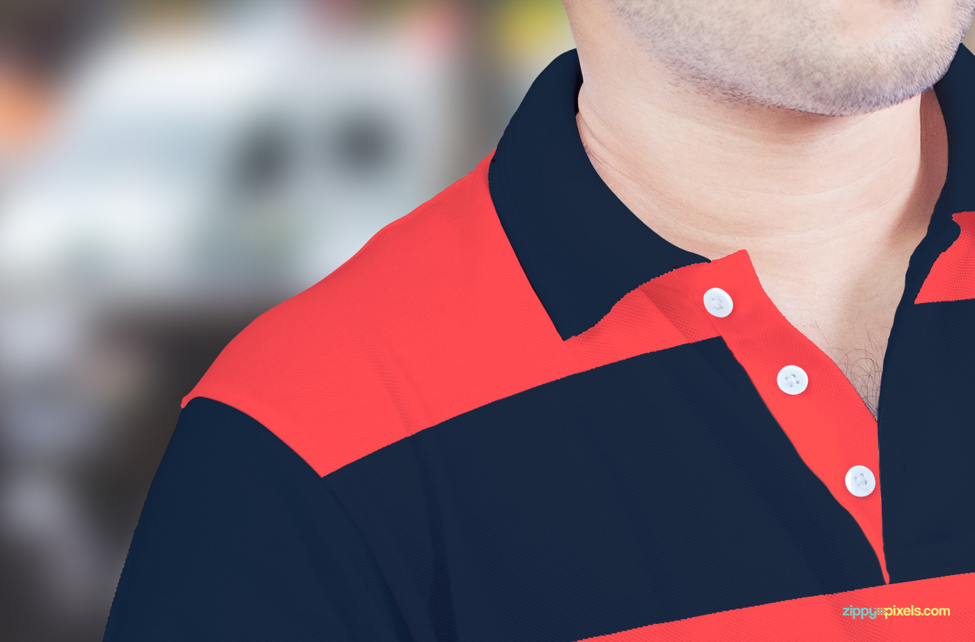 Free polo shirt mockup on behance for Free polo shirt mockup