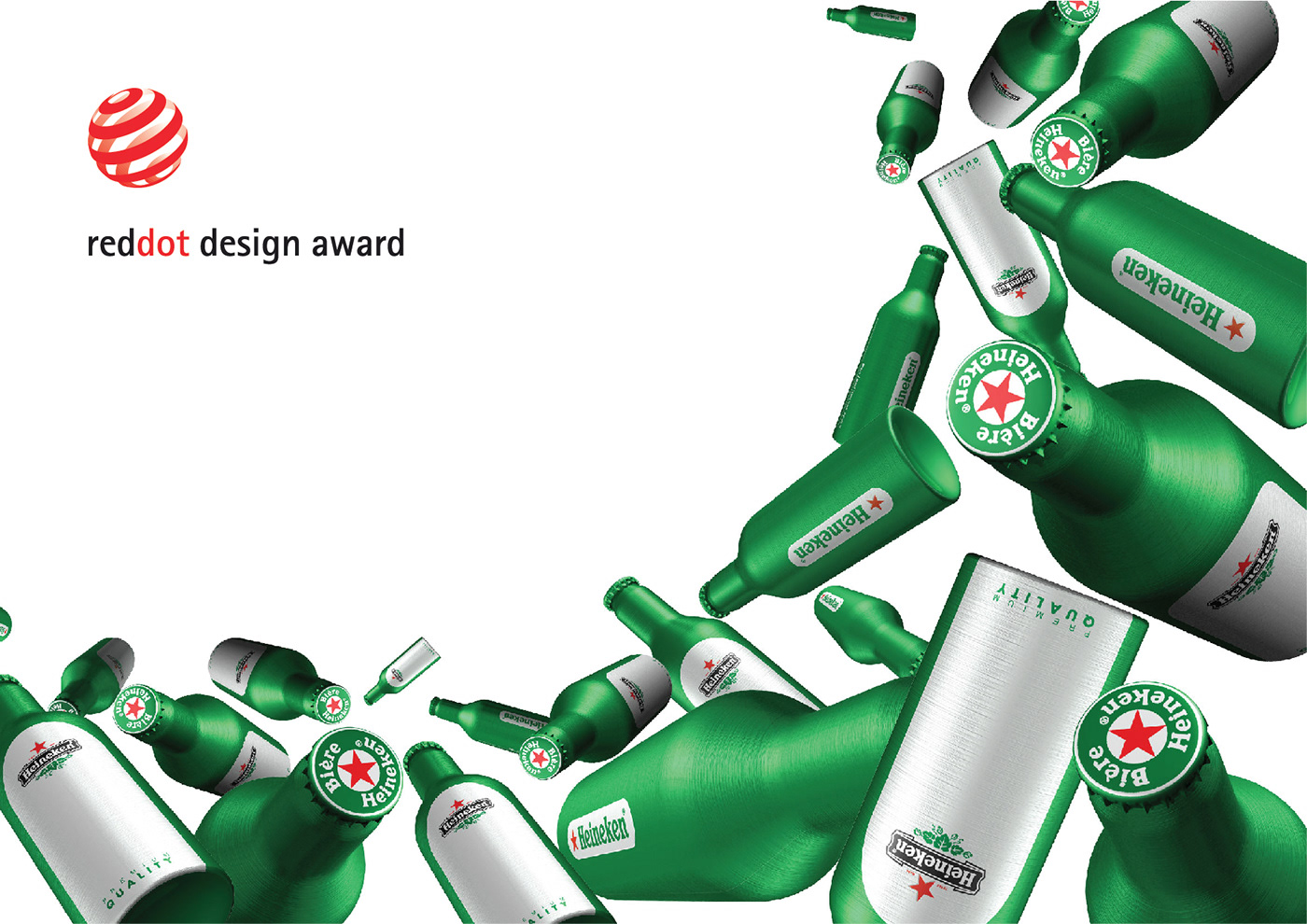 packaging design heineken beverage graphic design  beer bottle aluminium beer bottle limited edition