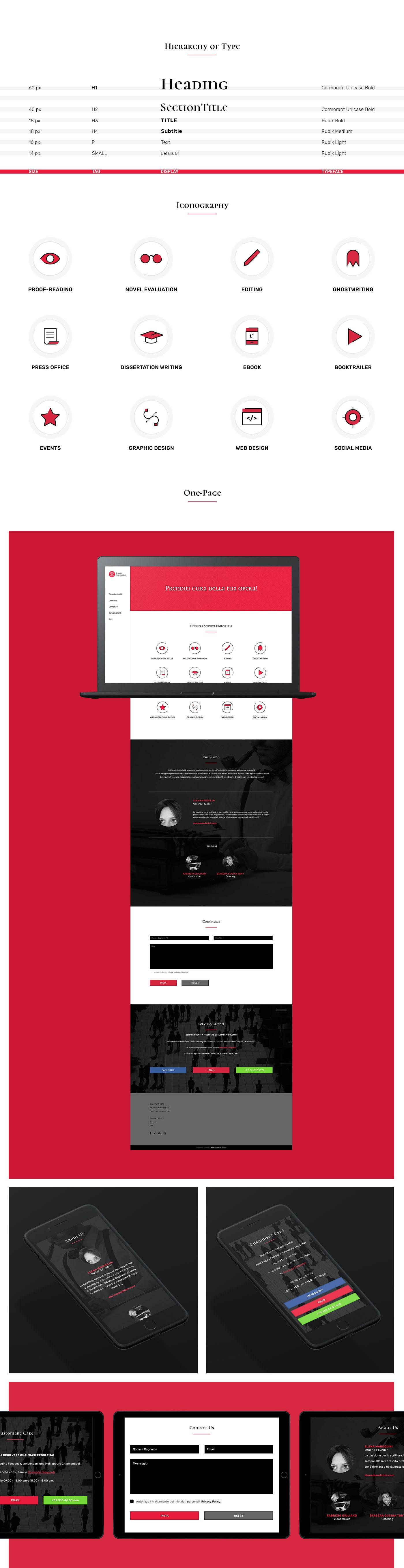 brand graphic Website onepage landingpage red black design editorial Responsive