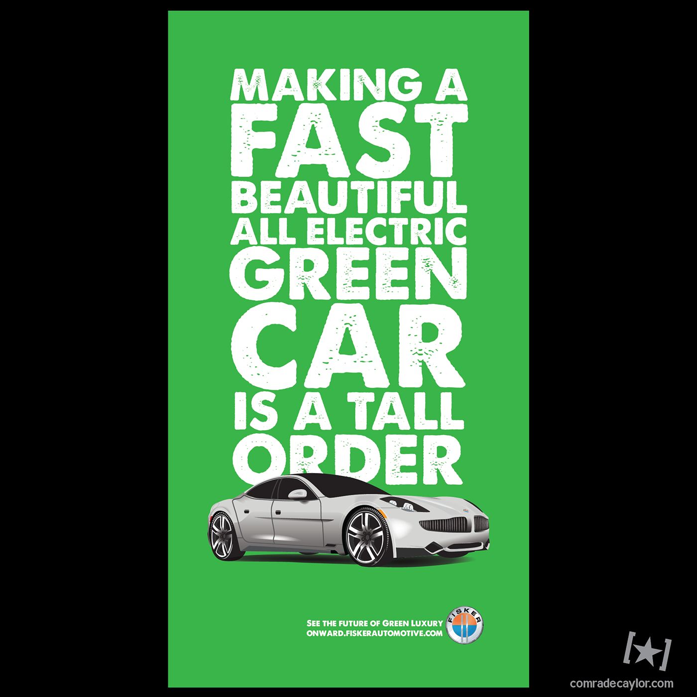 Fisker Karma Print Ads Full Half 2 3 1 3 2012 On Behance