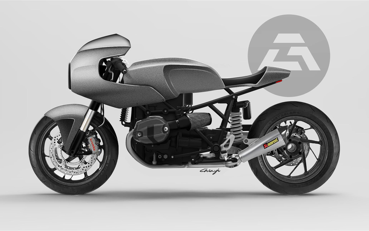 bmw r nine t cafe racer custom on behance. Black Bedroom Furniture Sets. Home Design Ideas