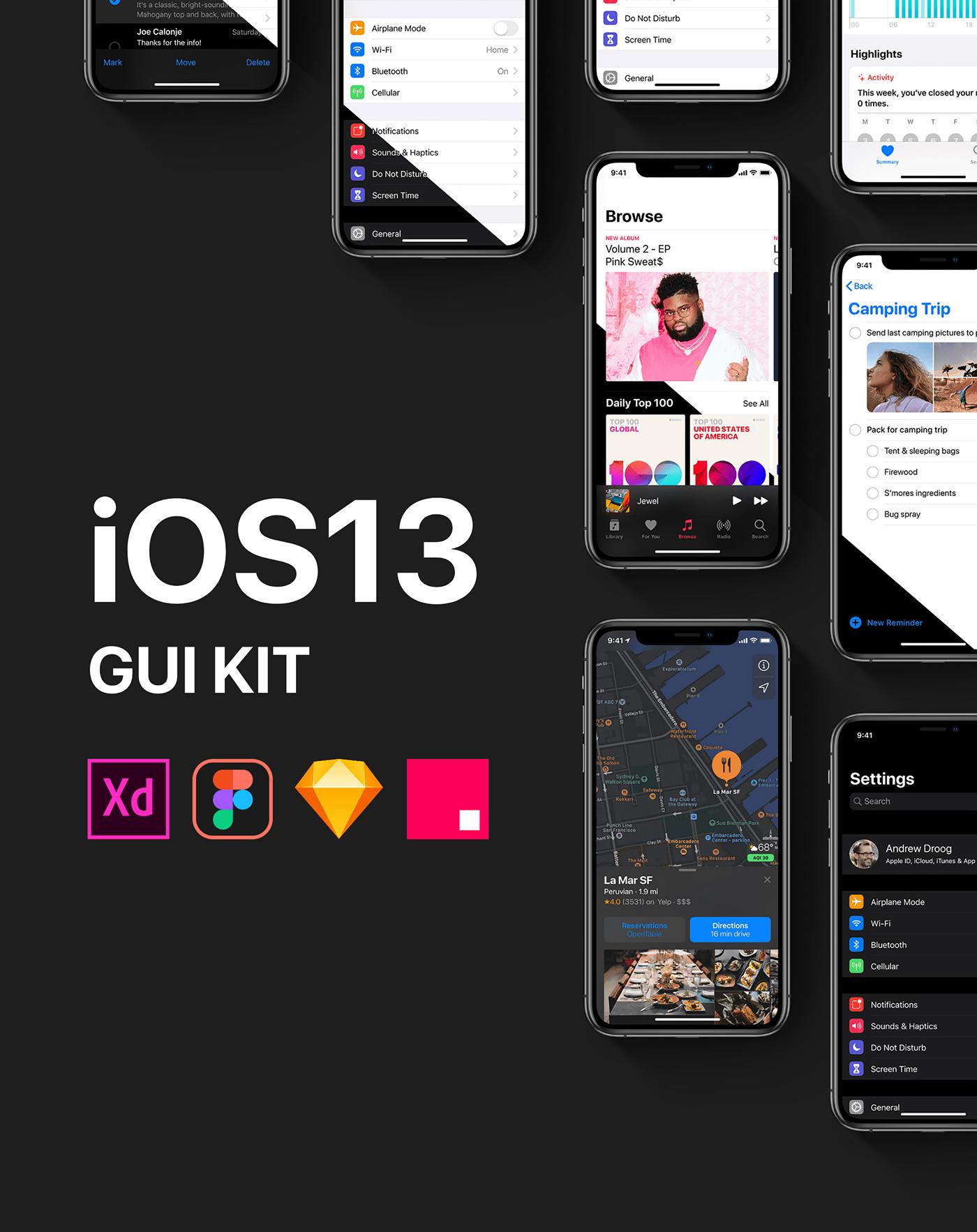 iOS13 GUI KIT on Behance
