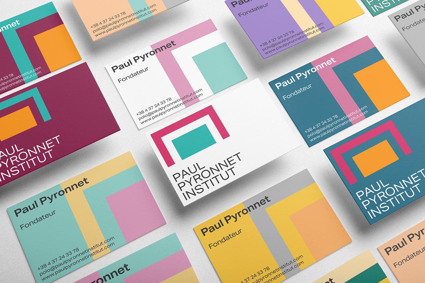 Paul Pyronnet Institut business cards