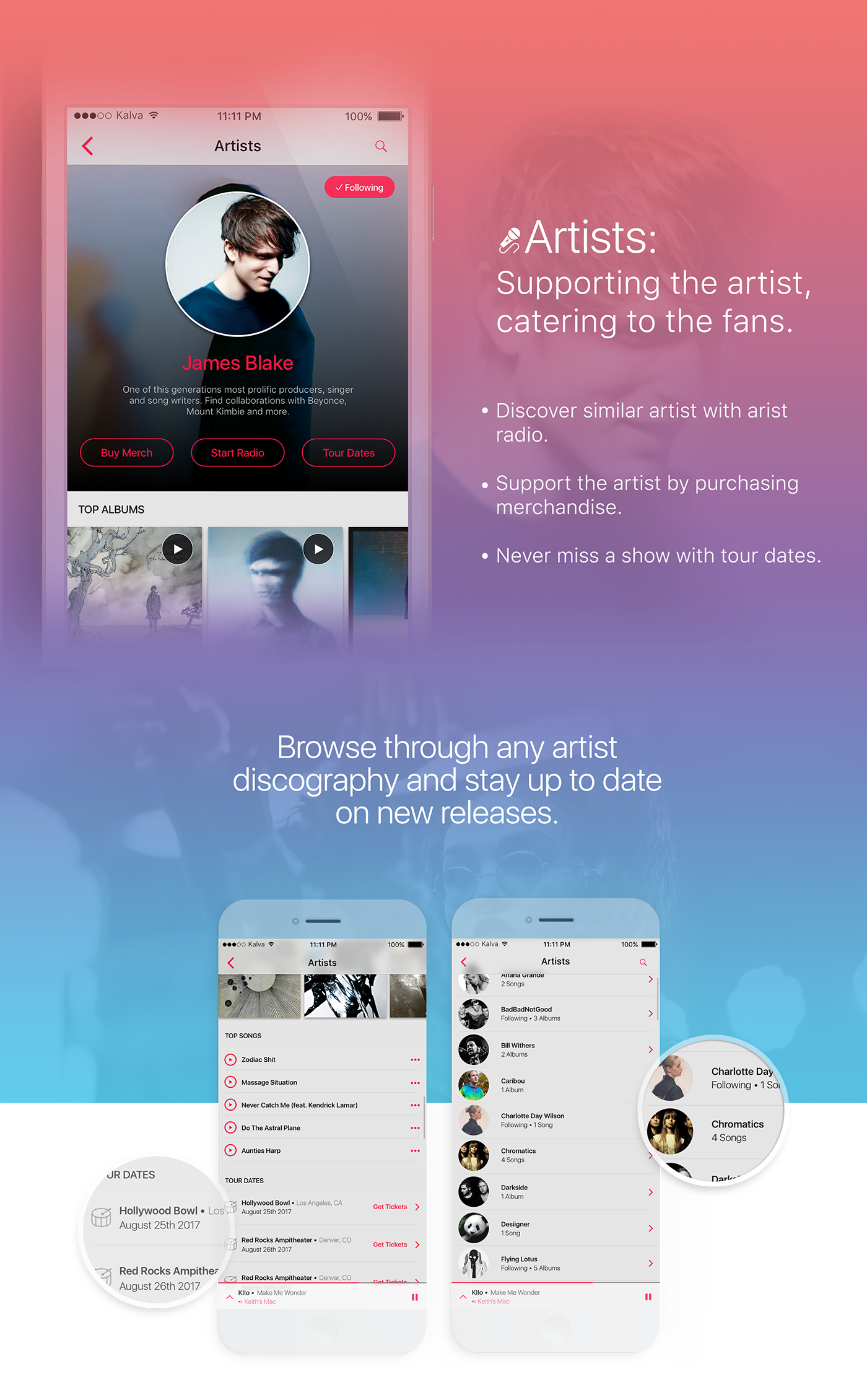 ux UI user interface experience design app design Apple Music spotify music streaming concept