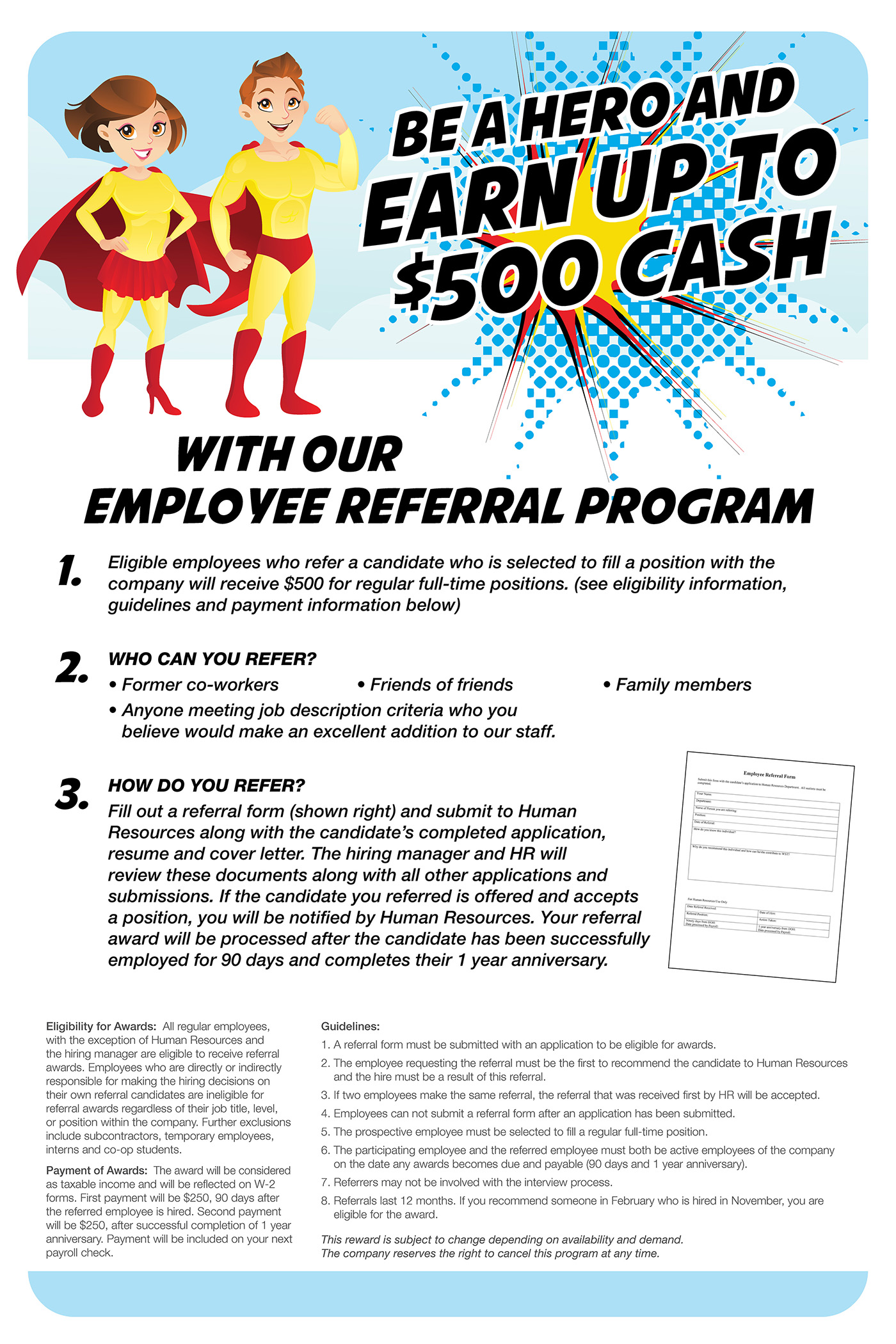 employee referral program poster on behance