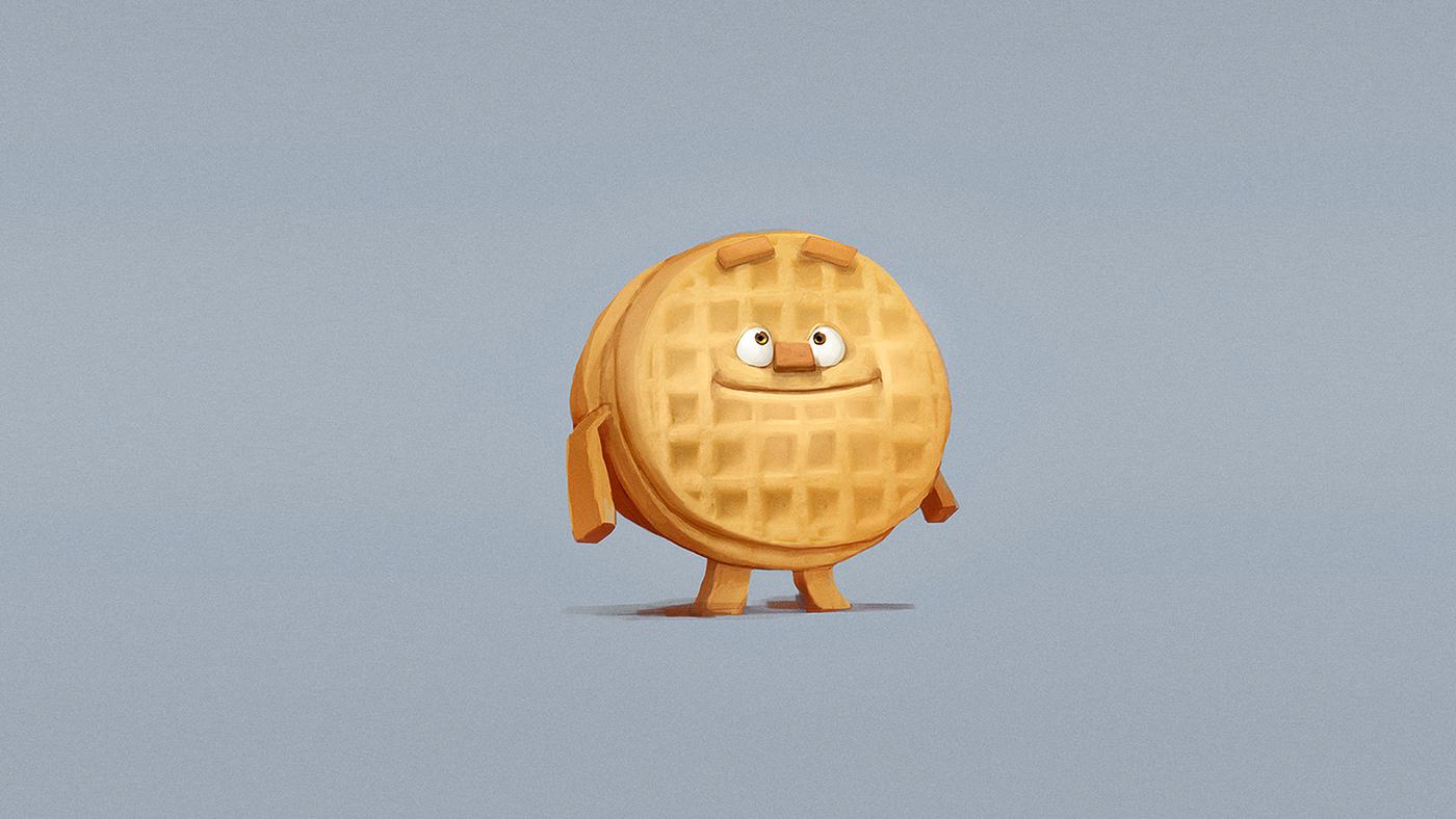 breakfast concept art Food  Cream Cheese waffle goiabada pão de queijo bread tv spot colorkeys