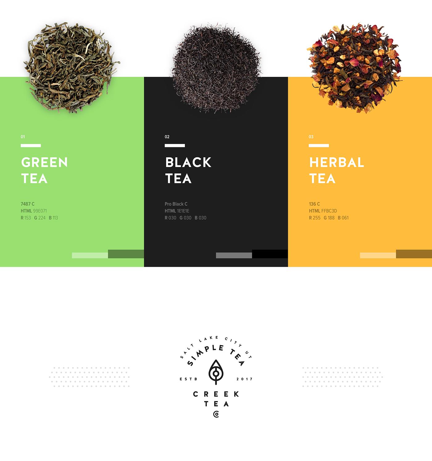 logo tea branding  design-by-diamond creek-tea-co package design  logomark brand-identity kettle tea-kettle