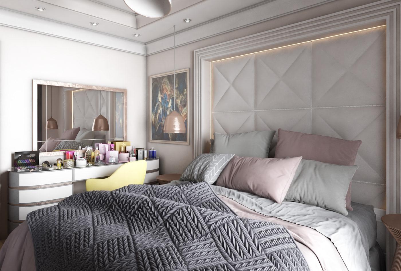 Interior design visualization vray photoshop architecture 3dsmax graphics Motaz mostafa