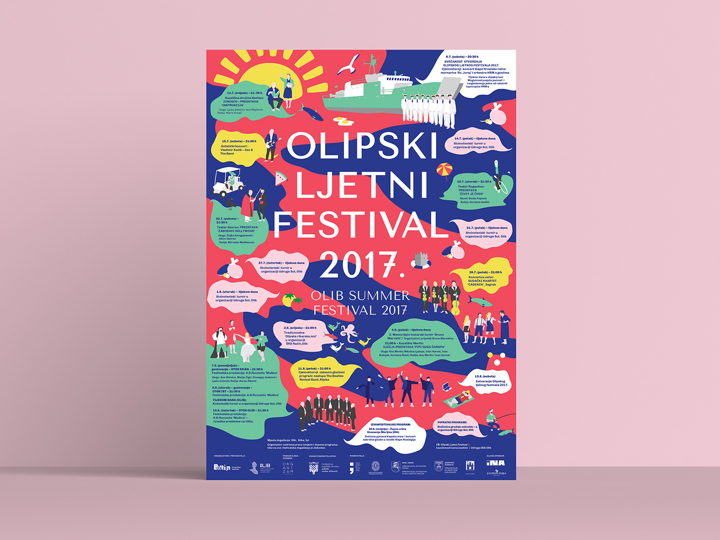 visual identity,Summer Festival,ILLUSTRATION ,Croatia,flippantly,Island,Performance