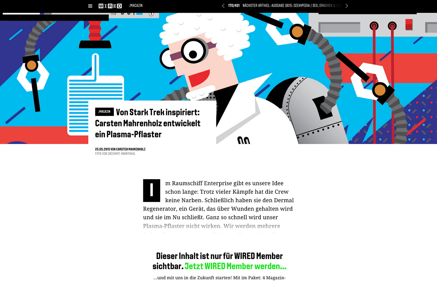 Illustration for WIRED magazine germany on Behance