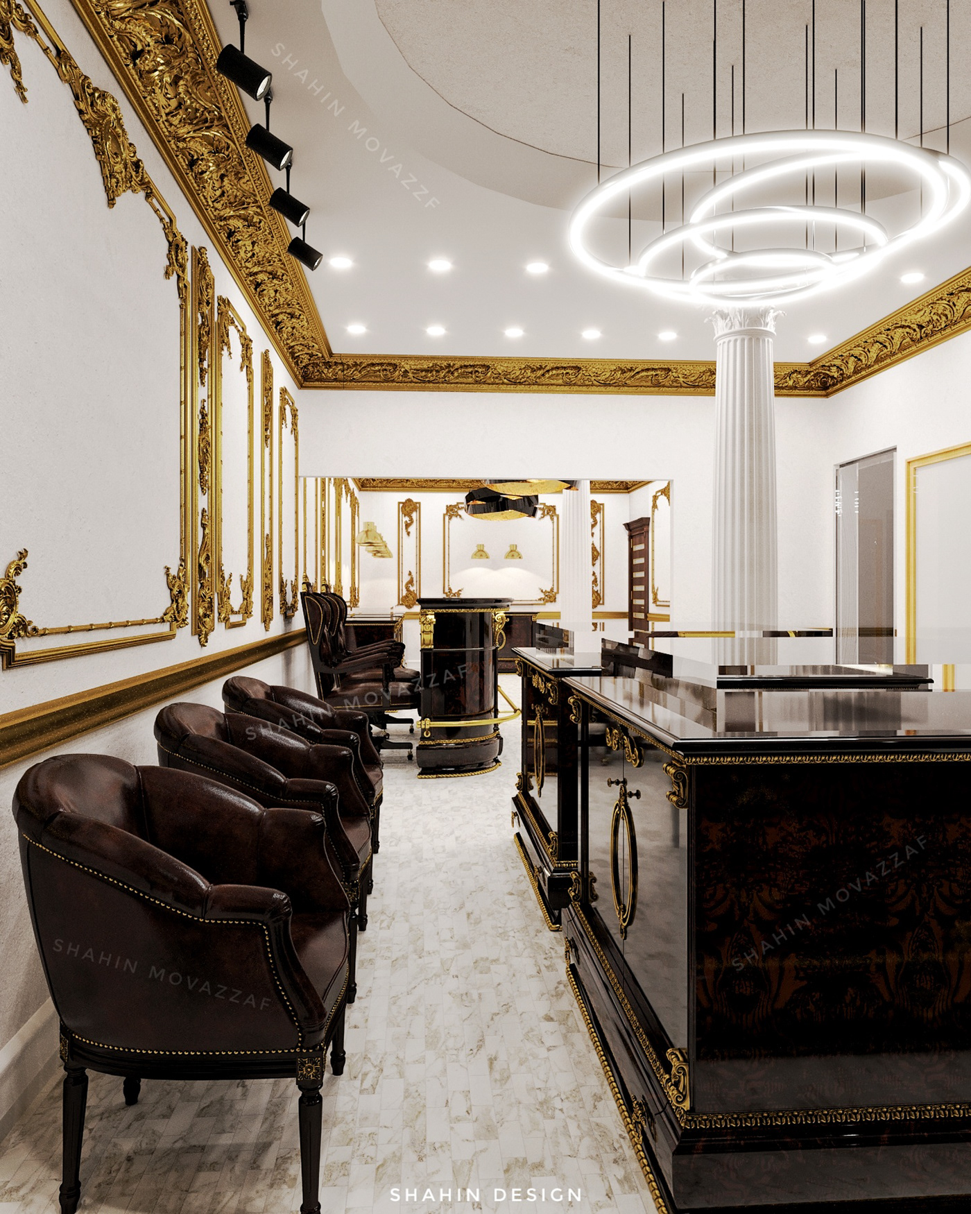archviz CGI classic interior design corona render  interior design  Interior Visualization jewelry store