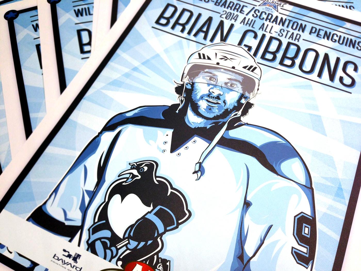 Pittsburgh Penguins hockey sports poster art wbs penguins penguins hockey design illustrated poster poster