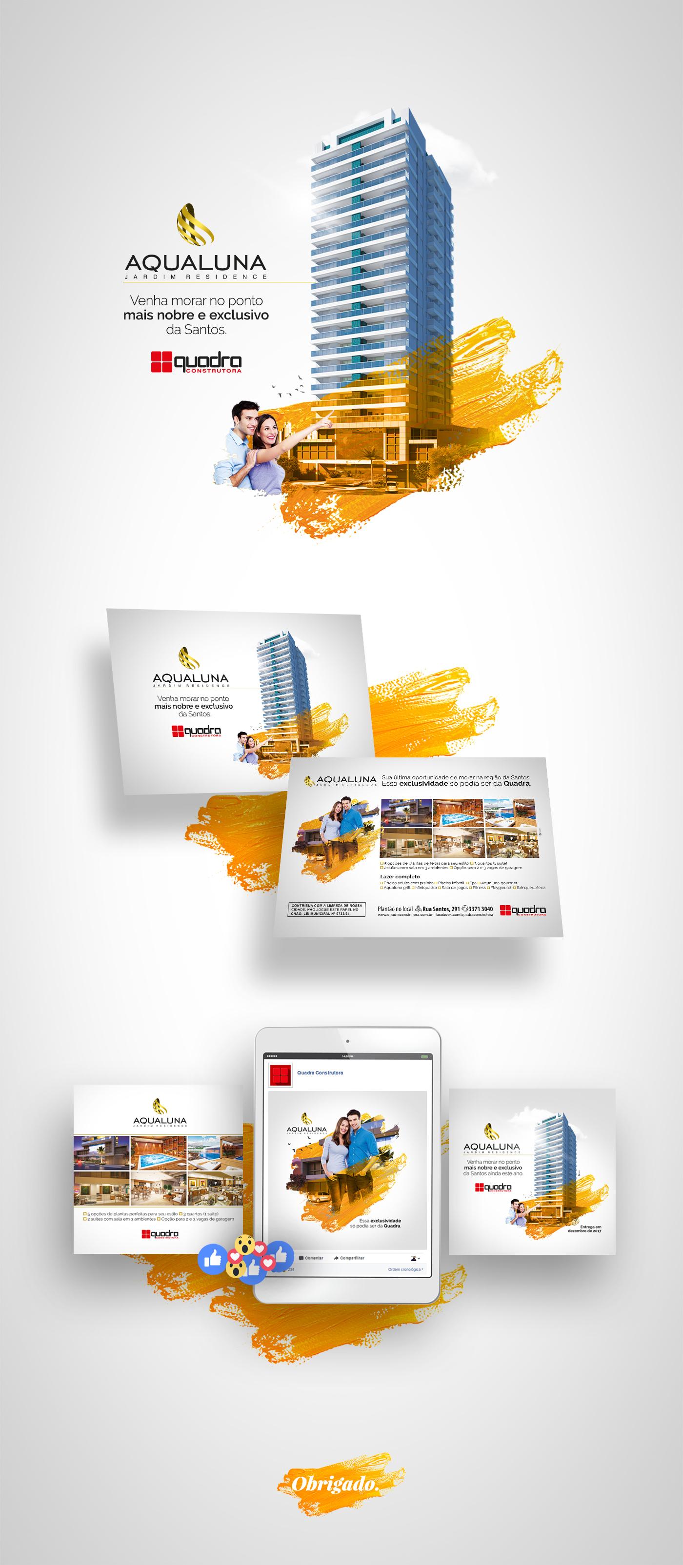flyer anúncio Outdoor design facebook adobe campanha mídia social construction building