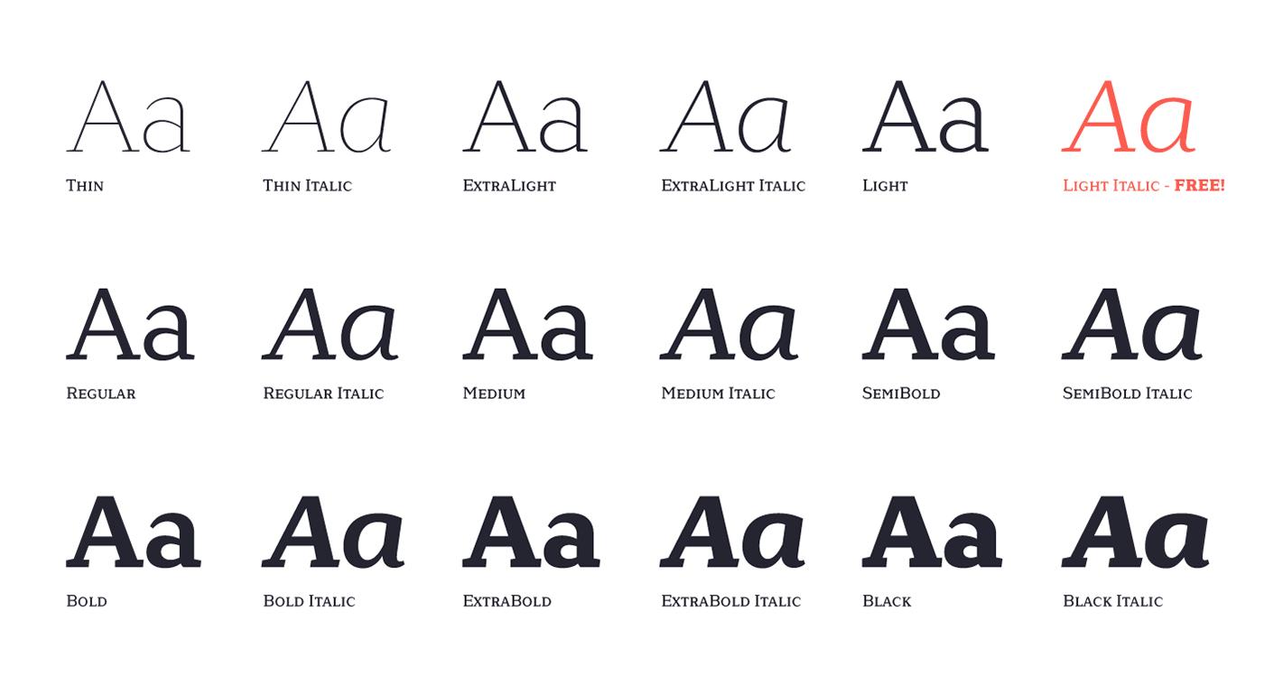 font free sans serif slab contemporary modern legible contrast elegant