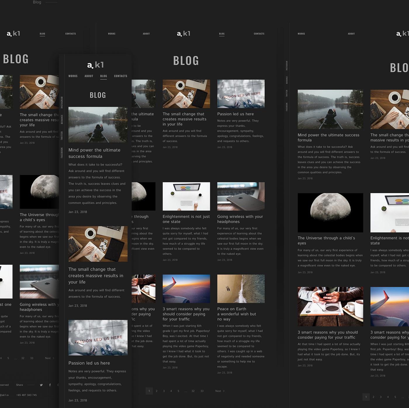 a.k1 Portfolio Template on Behance