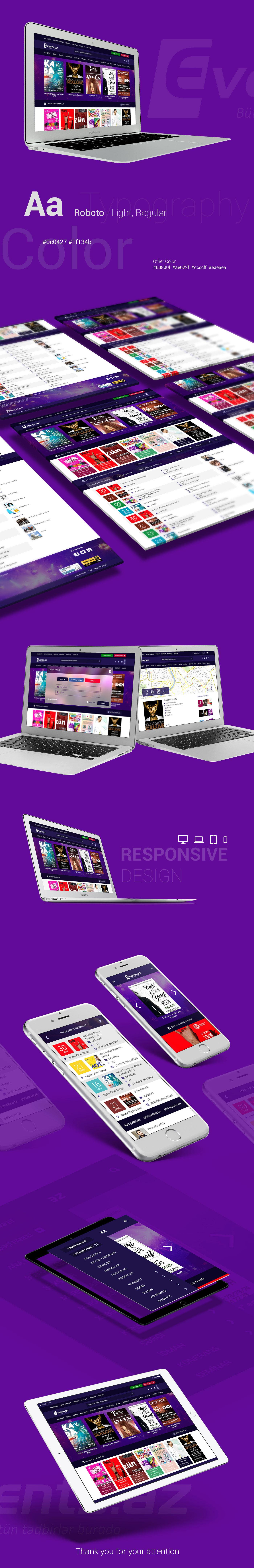 ux UI Web Design  Responsive Events graphic design