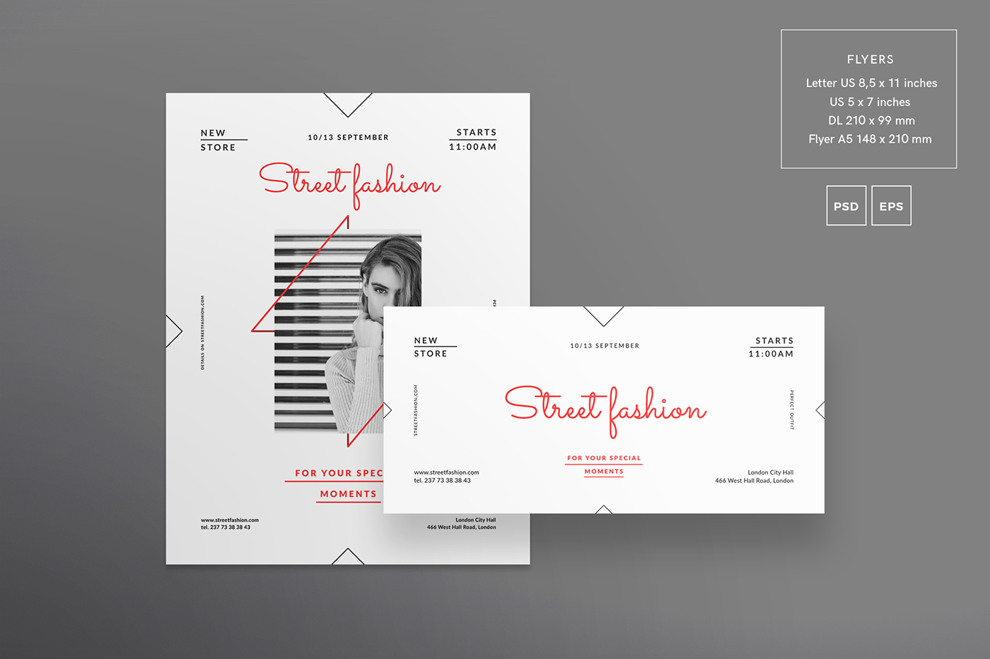 street fashion modern and creative templates suite on behance