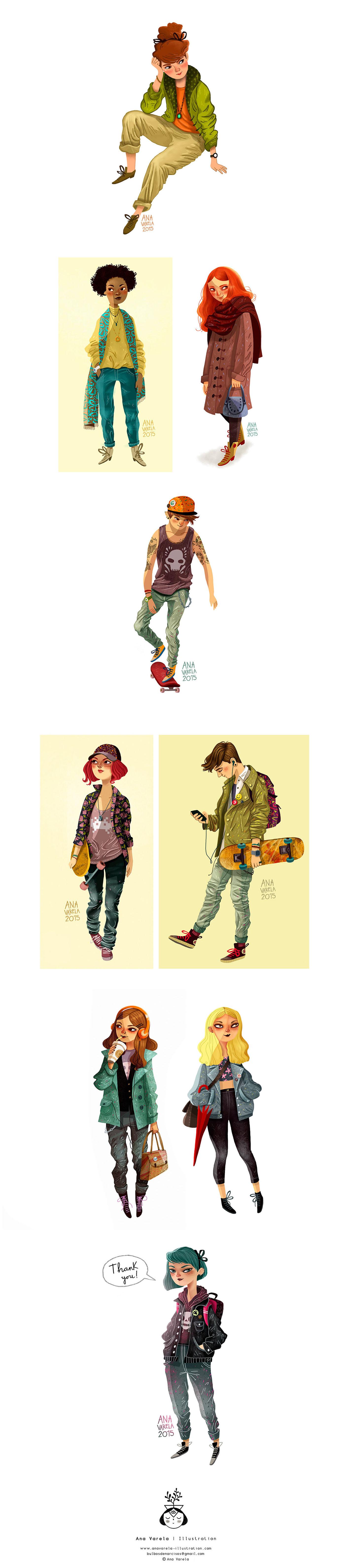 ana varela Figure Drawing digital sketches art Fashion Sketches