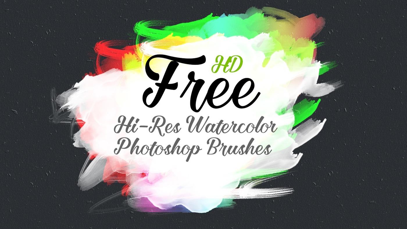 高質量的12張photoshop水彩效果筆刷欣賞
