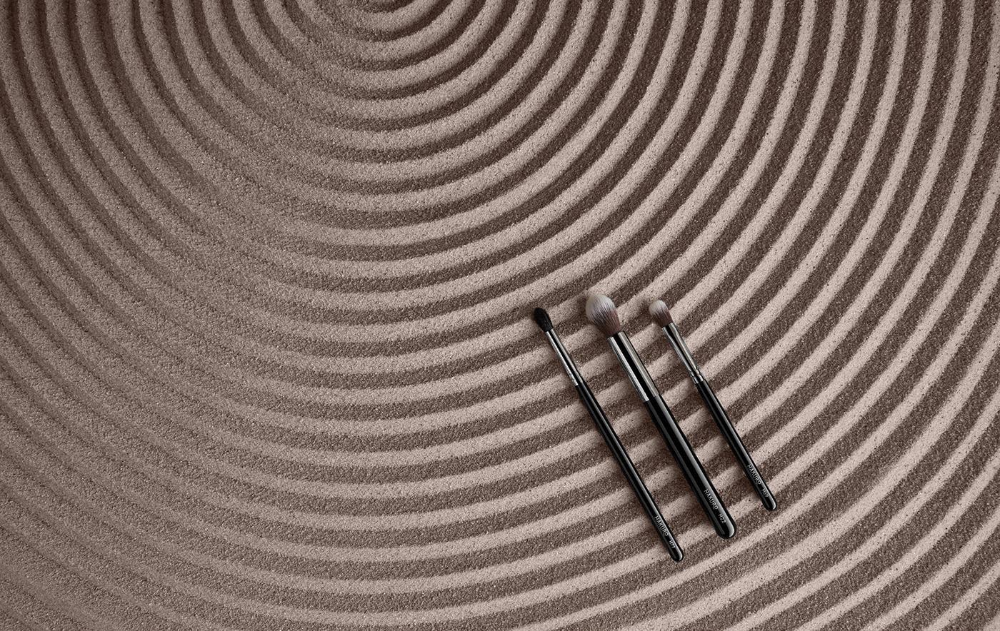 beauty brush brushes hakuro ILLUSTRATION  makeup Packaging Rebranging