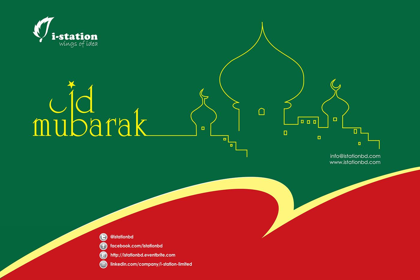 eid  puja card design on behance