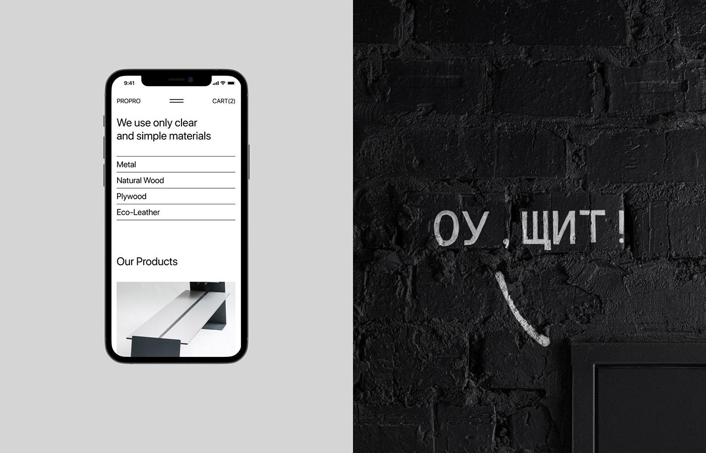 furniture propro UI ux Webdesign Ecommerce typography   Website online shop