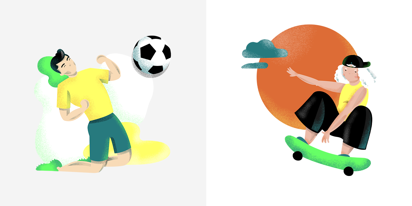 Image may contain: cartoon, soccer and ball
