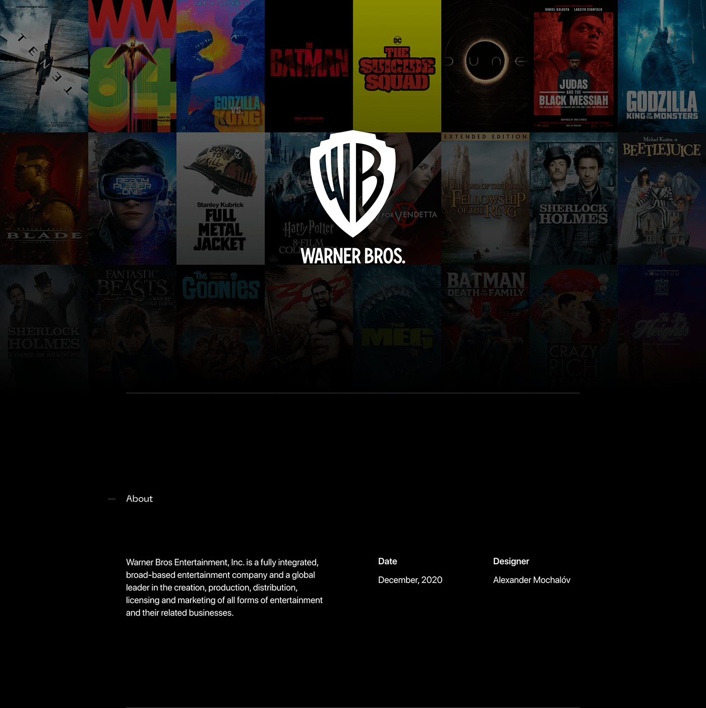 dc Games Movies Scooby-Doo uxui warnerbros Webdesign Website Middle-earth WizardingWorld
