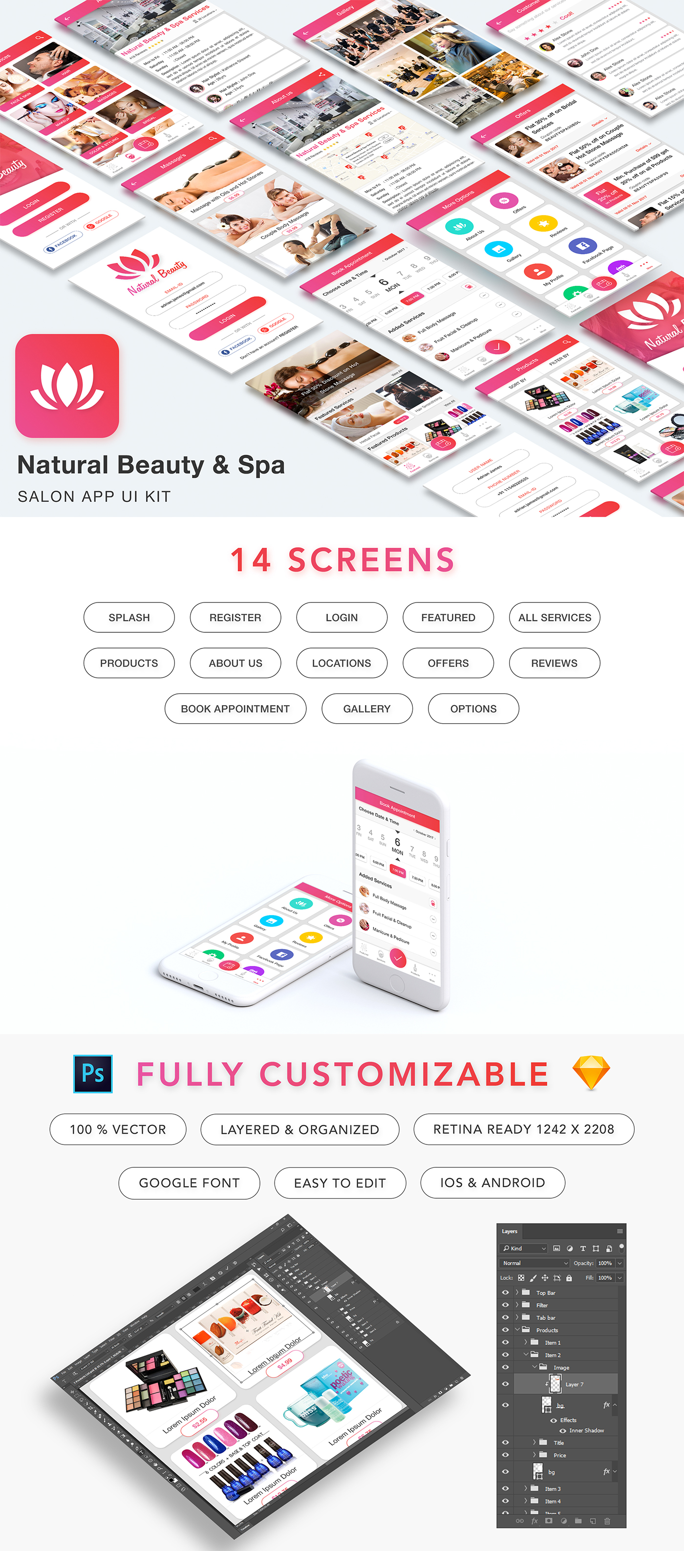 beauty Spa salon hair dresser massage care centre face Style