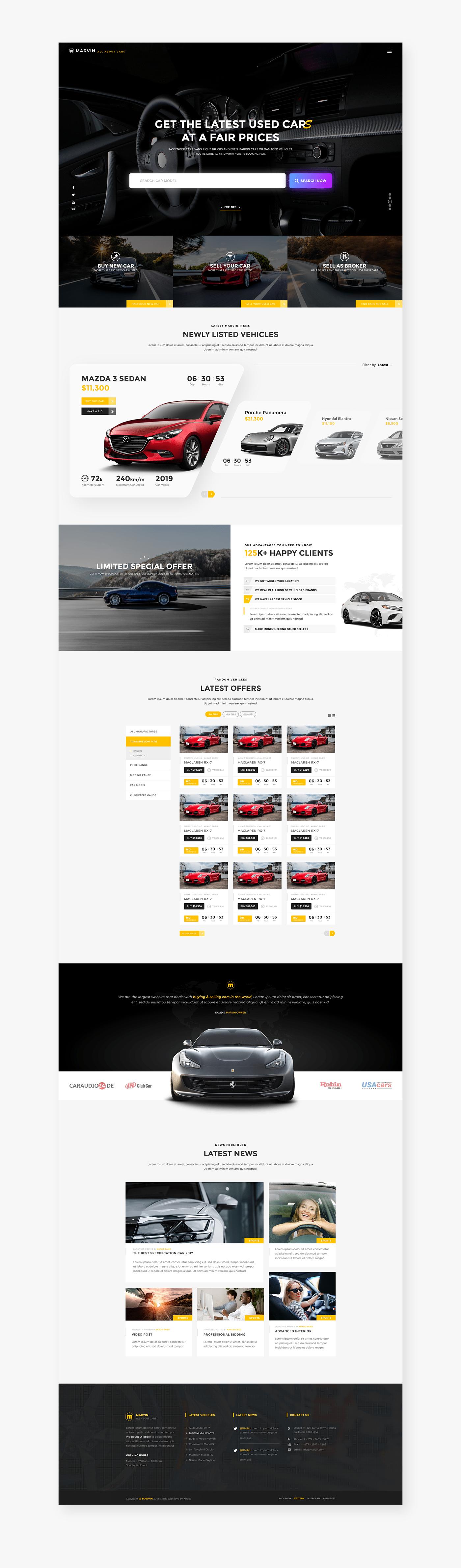 car auction Car Auction Web Design Car Seller UI/X
