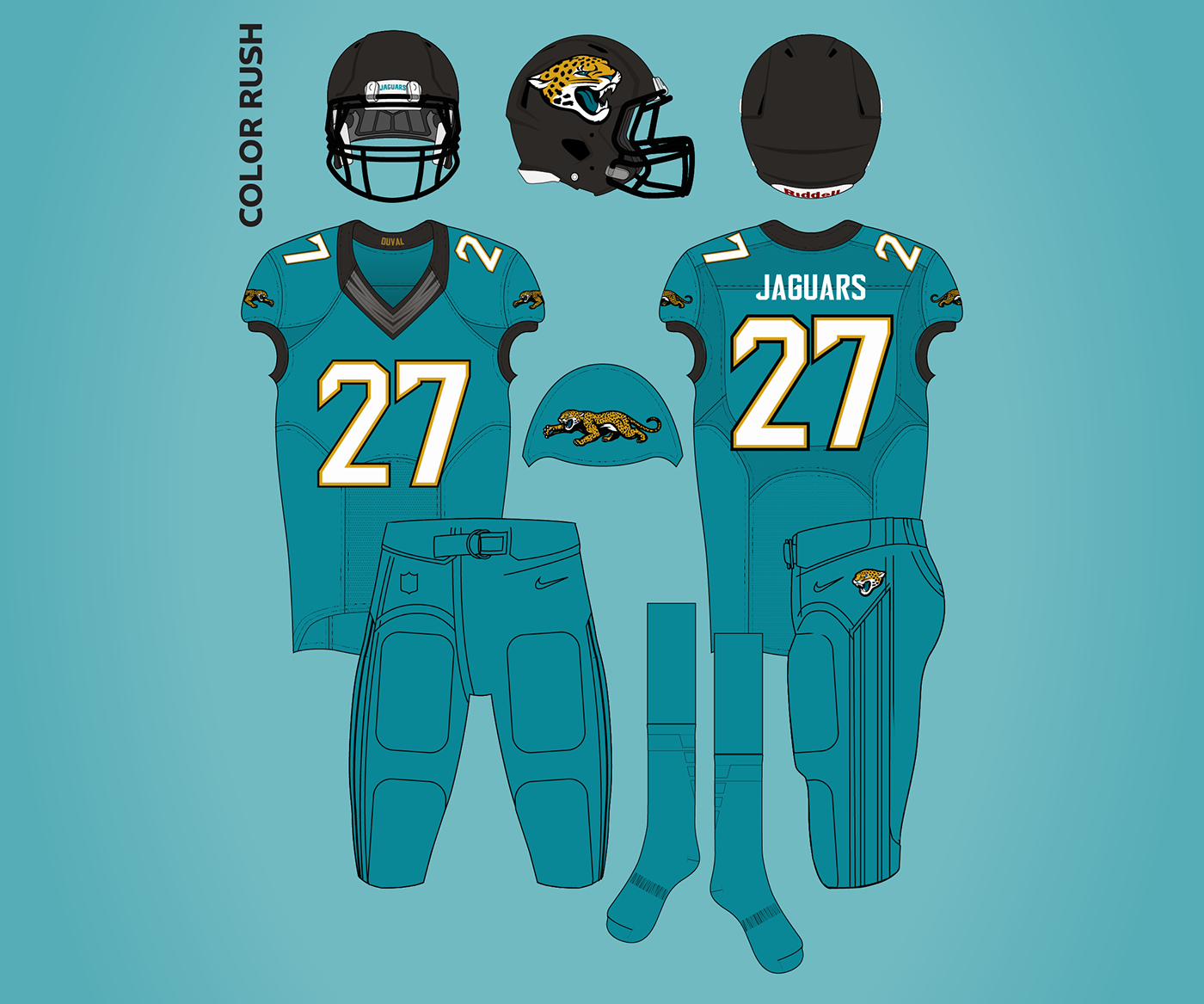 Nice Jacksonville Jaguars Redesign on Behance