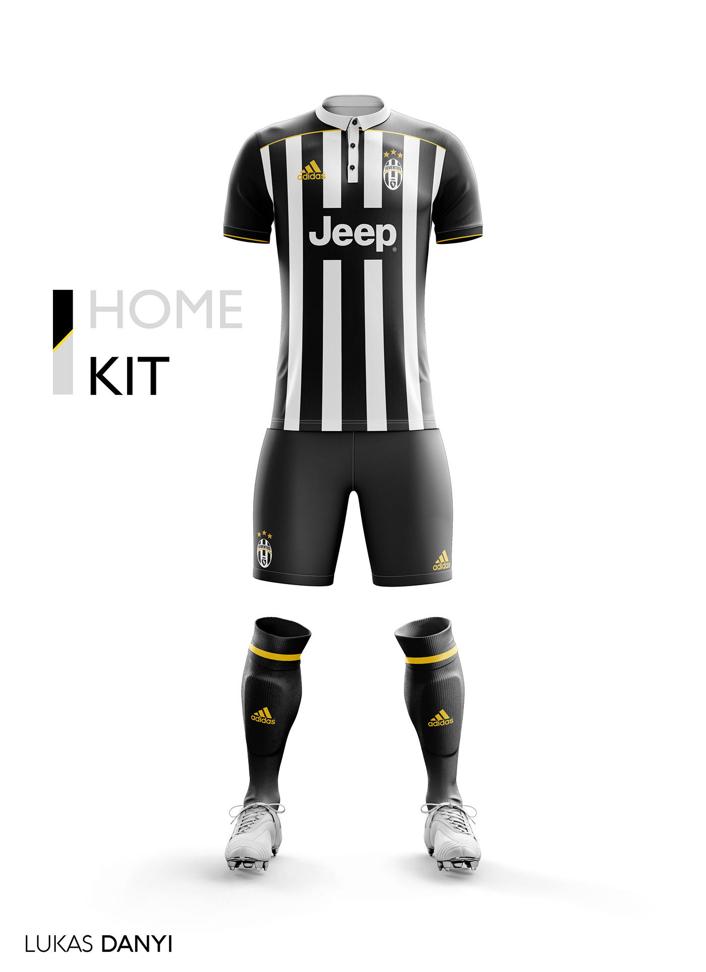 premium selection a8f8d b2fd9 Juventus FC Football Kit 17/18. on Behance