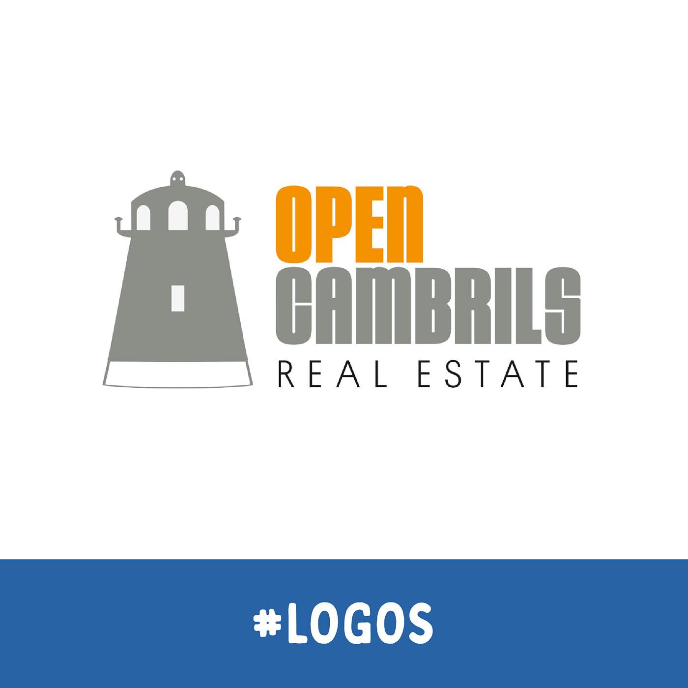 "Identidad visual e interiorismo para ""Open Cambrils Real Estate""."