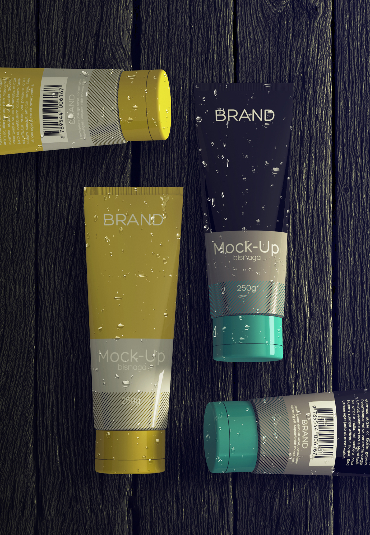 Realistic cosmetics packaging free mock up on behance for Behance mockups
