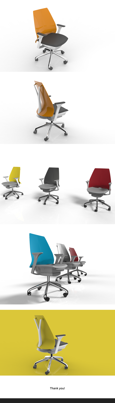 product design  industrial design  furniture design  Digital Art  SAYL chair Solidworks keyshot rendering office chair