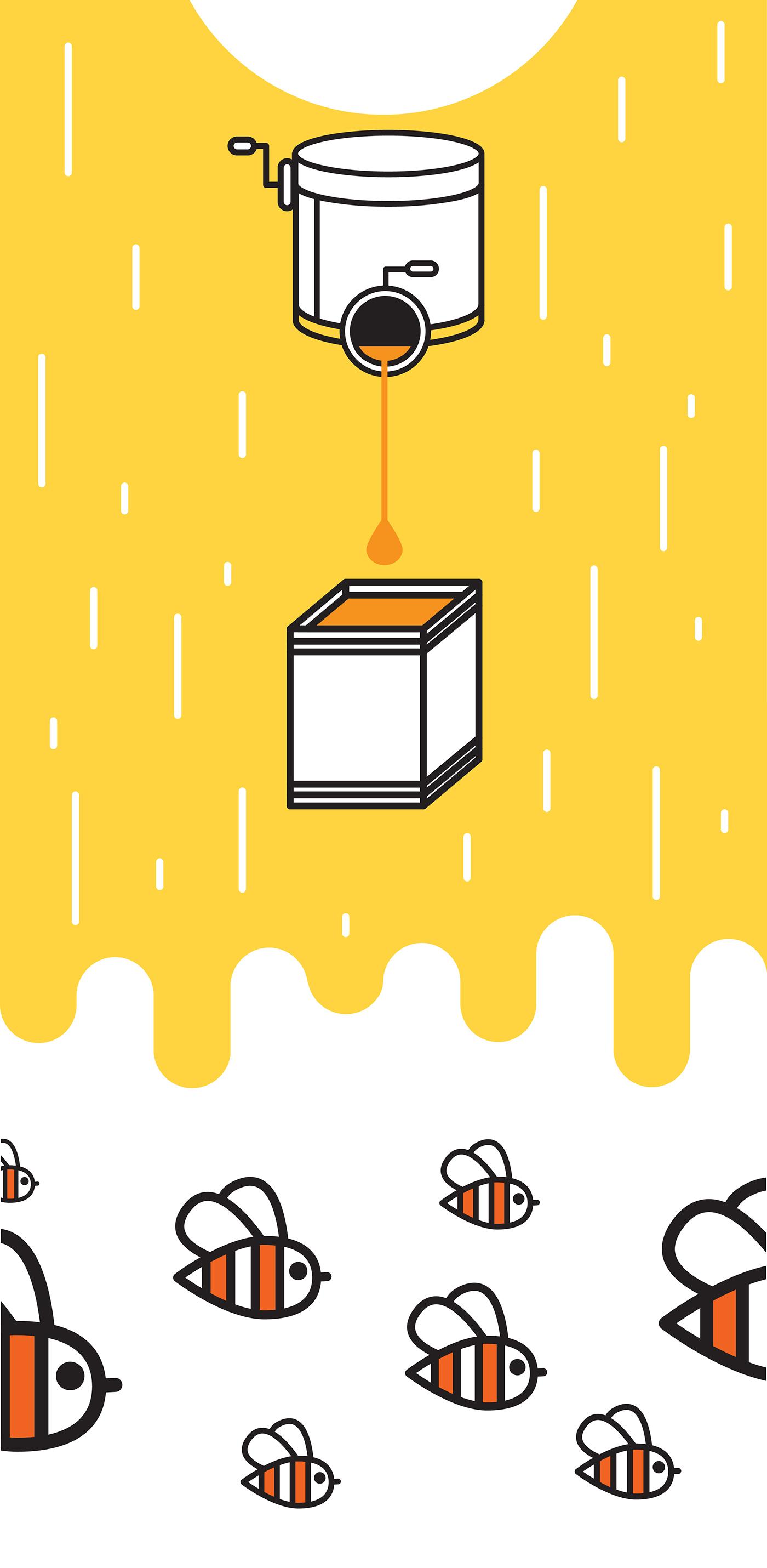Balparmak honey bee bal 2D Animation
