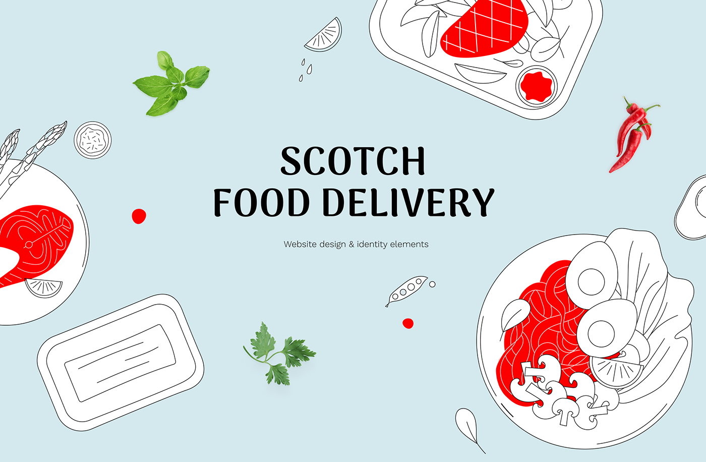 delivery deliveryservice Food  Foodtech scottish landing page