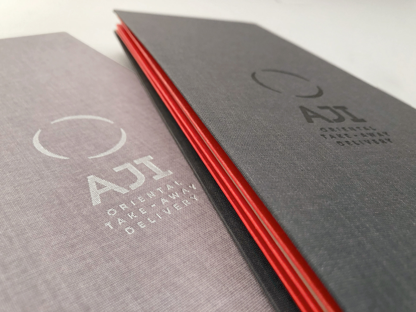 logo brand identity Packaging Shopper menu business card Folding Menu receipt holder print texture