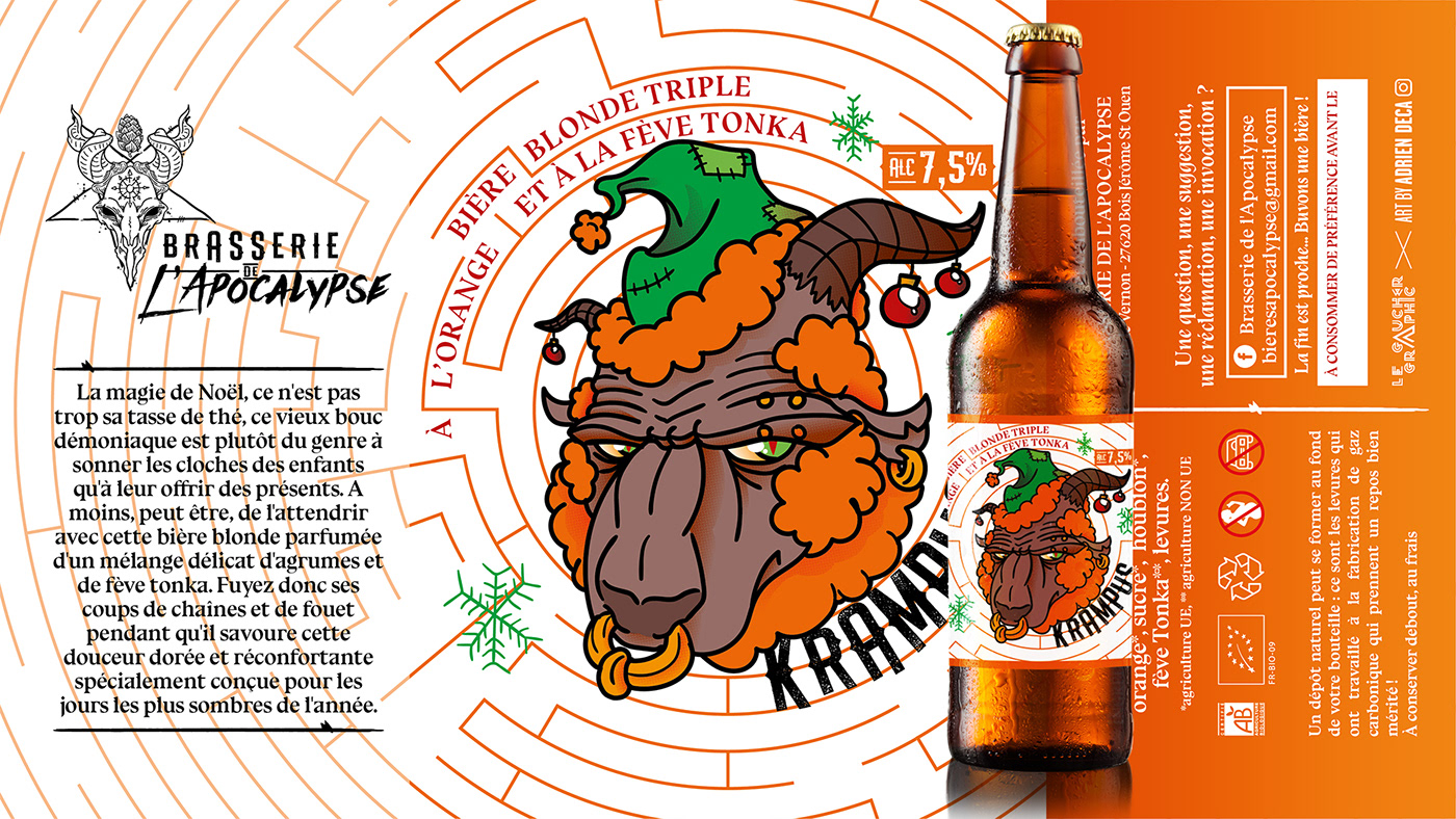 artwork beer bière creation demon etiquette Label Labyrinte maze mythologie
